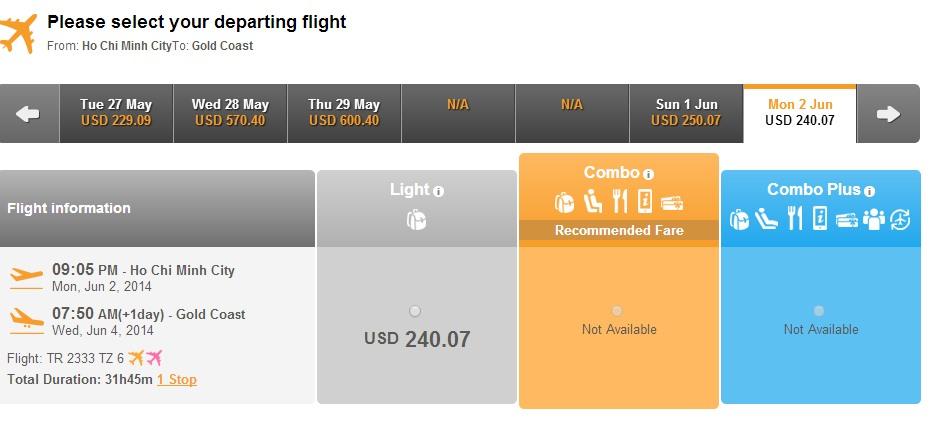 Thai Airways đi Gold Coast