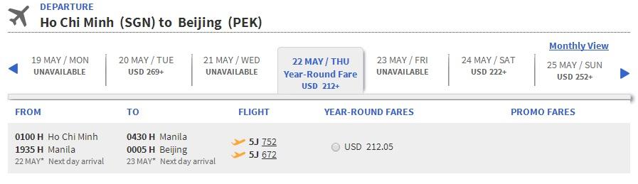 Thai Airways đi Bắc Kinh
