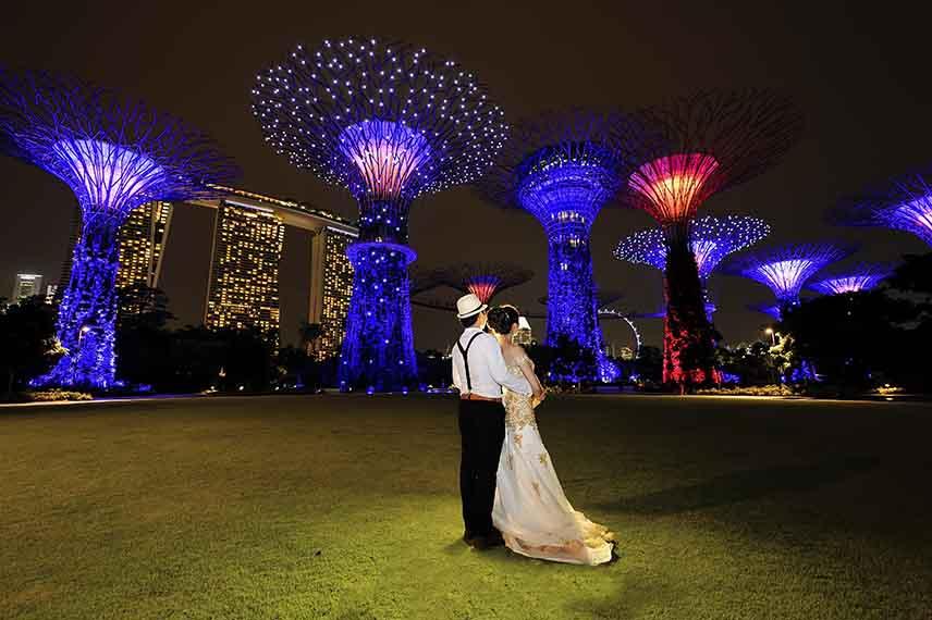 Bộ ảnh cưới lung linh tại Singapore
