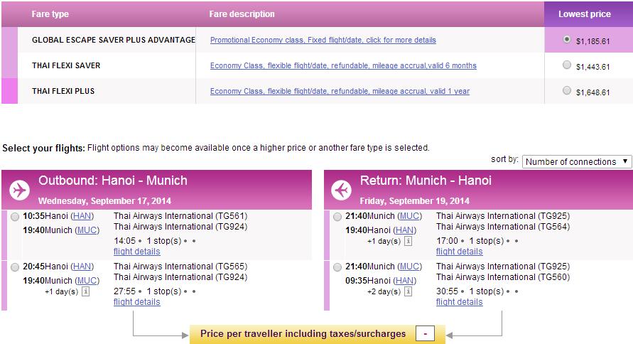 Vé máy bay Hà Nội đi Munich giá rẻ