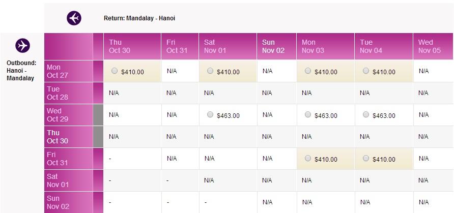 Vé máy bay đi Mandalay giá rẻ
