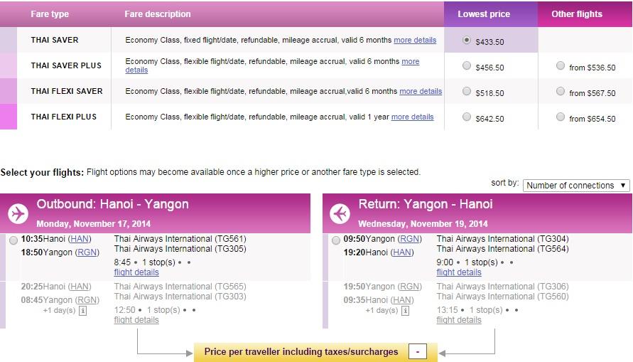 Vé máy bay giá rẻ Hà Nội đi Myanmar