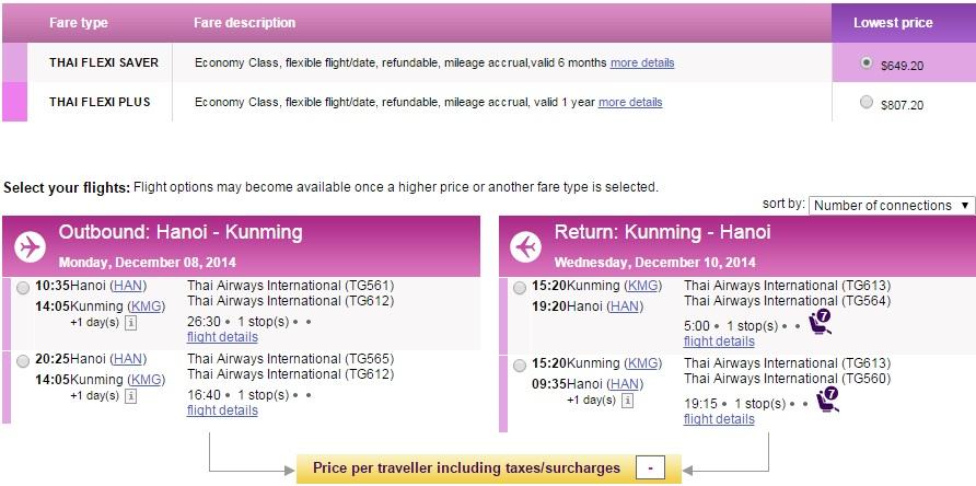Vé máy bay đi Côn Minh giá rẻ