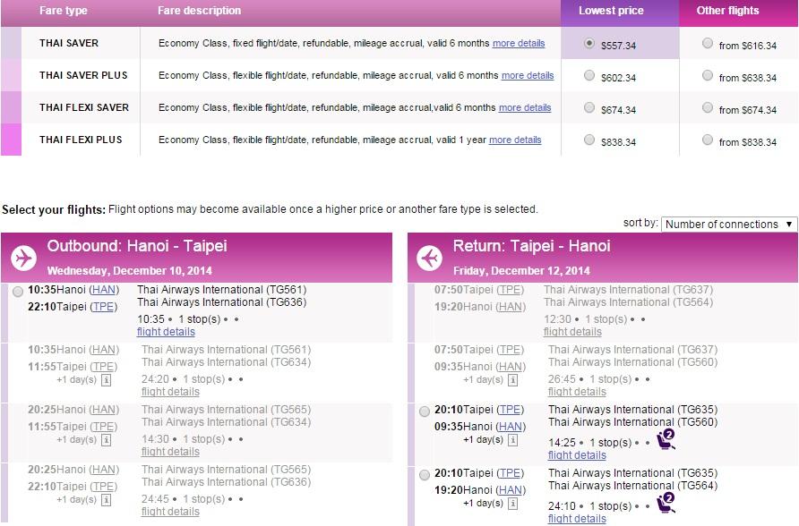 Vé máy bay đi Đài Loan bao nhiêu?