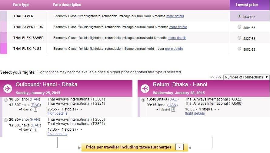 Vé máy bay đi Bangladesh bao nhiêu tiền?