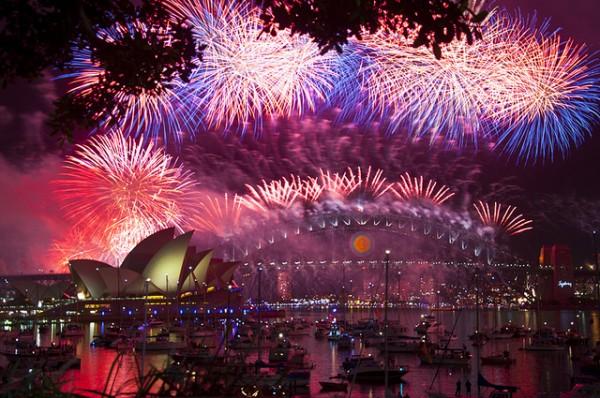Đón năm mới hoành tráng tại nước Úc ấm áp