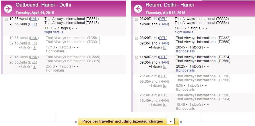 Vé máy bay đi Ấn Độ bao nhiêu tiền?