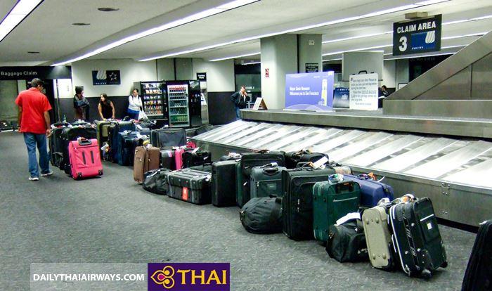 Lưu ý về hành lý miễn cước Thai Airways