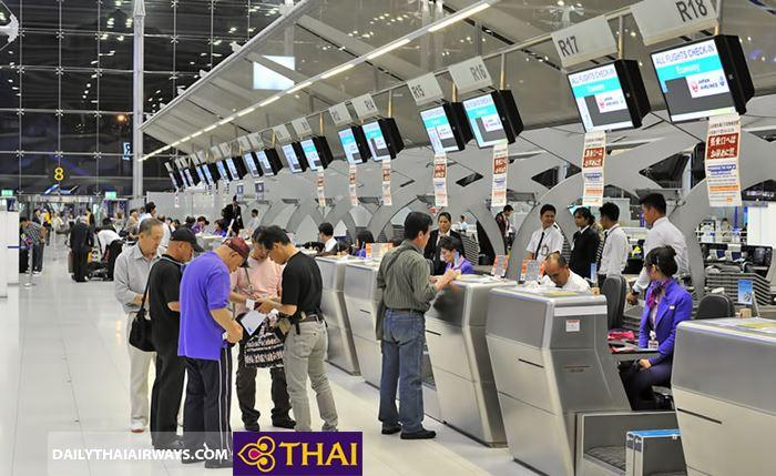 Phí hành lý quá cân Thai Airways áp dụng cho từng hành trình