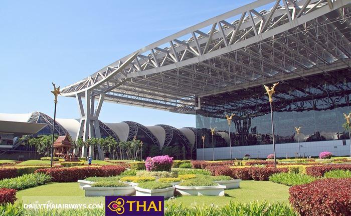 Khu vườn ở sân bay Suvarnabhumi