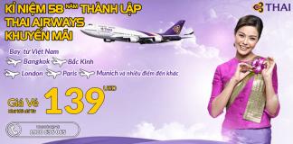 Đặt vé Thai Airways khuyến mại